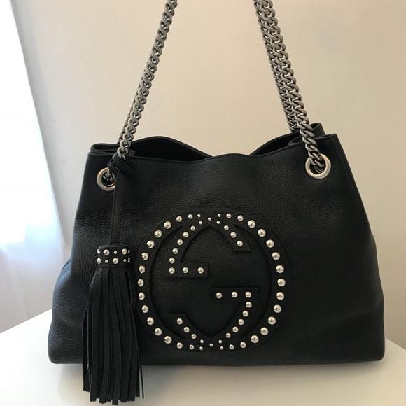 f23a6288ade Gucci Handbags - Gucci Studded Soho Medium Bag